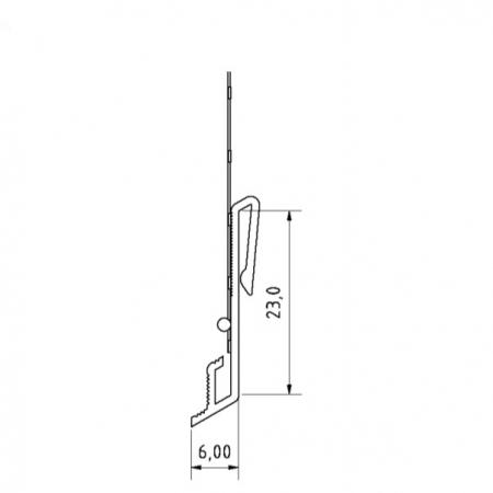 SockelschienenAufsteckProfil V - Picurator V Pentru Profilul de Soclu din Aluminiu 06/2.5 m [4]