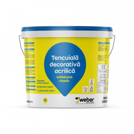 weberpas Classic Tencuiala Decorativa Acrilica, Grupa 3 de Culori, 25kg0