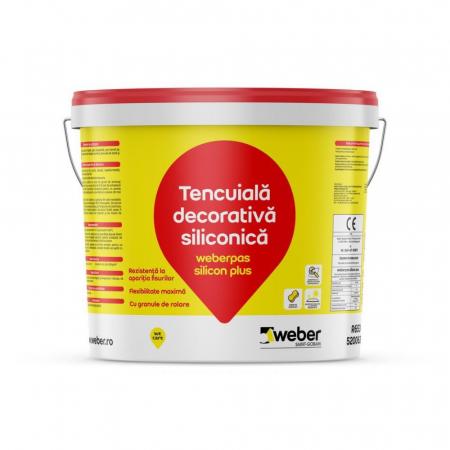 weberpas Silicon Plus Tencuiala Decorativa Siliconica, Grupa 3 de Culori, 25kg0