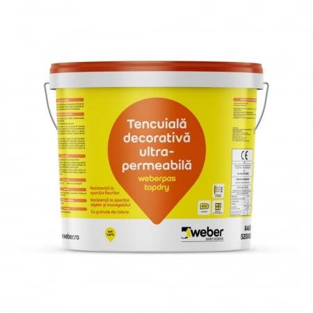 weberpas TopDry Tencuiala Decorativa UltraPermeabila cu Efect Autocuratare, Grupa 3 de Culori, 25kg0