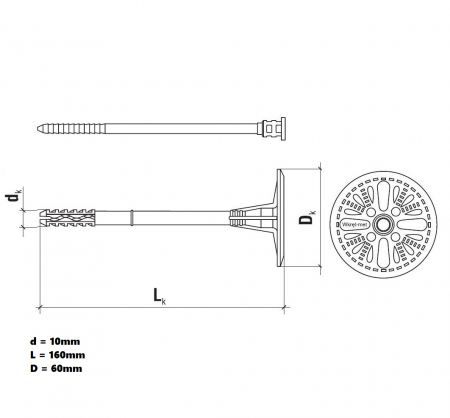 Wkret-Met LTX-10 Diblu Pentru Fixari Polistiren in Beton, Caramida si BCA3