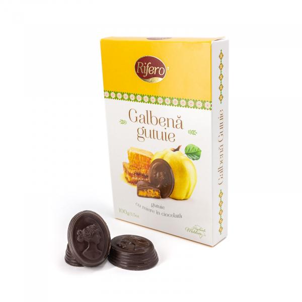 Galbena gutuie cu miere in ciocolata 100gr-OFERTA 1+1 GRATIS [0]