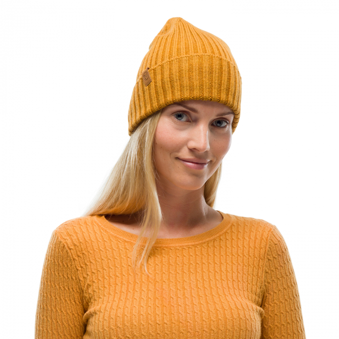 Caciula knitted wool NORVAL Mustard 0