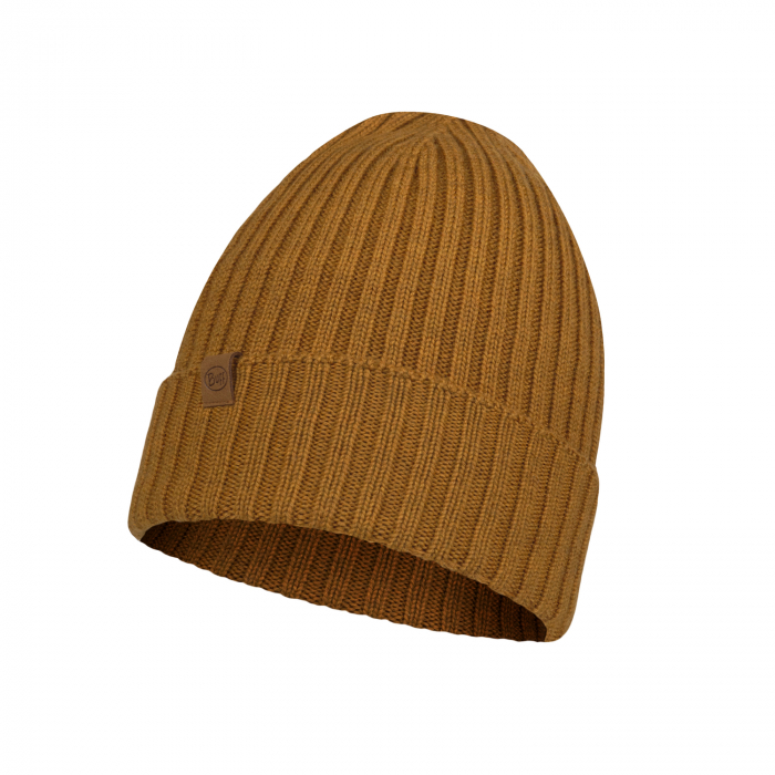 Caciula knitted wool NORVAL Mustard 1