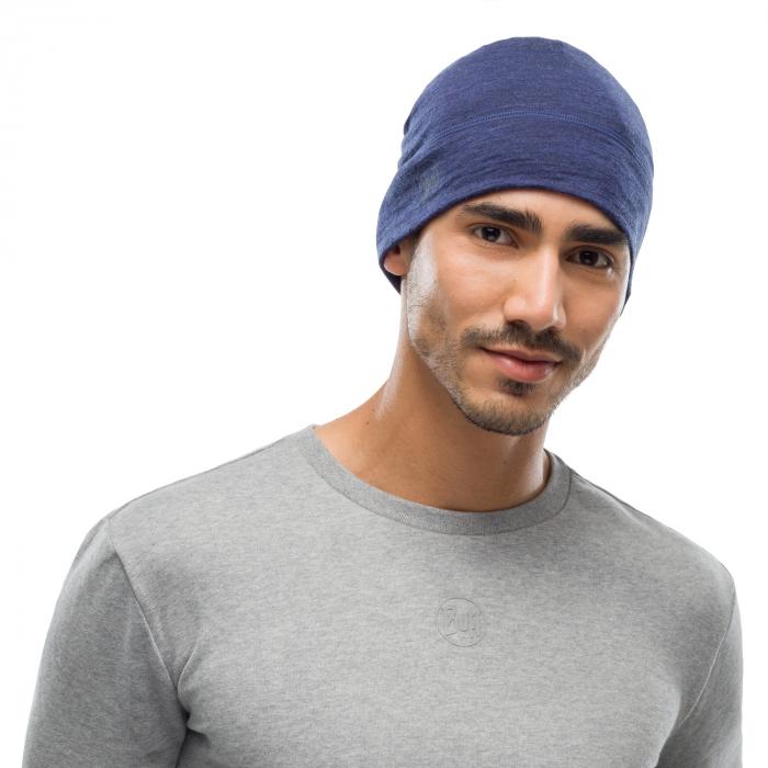 Caciula merino wool lightweight SOLID denim 3
