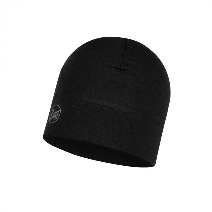 Caciula midweight merino wool Solid Black 2