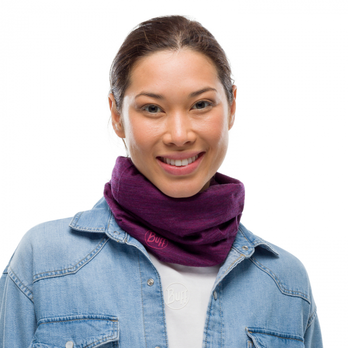 Light Weight merino wool PURPLISH Multi stripes 1