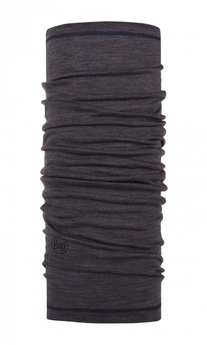 LIGHTWEIGHT MERINO WOOL CHARCOAL GREY MULTI STRIPES 0