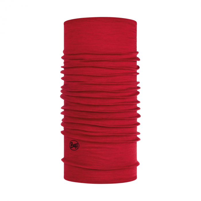 LIGHTWEIGHT MERINO WOOL SOLID RED 0