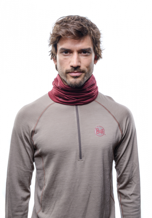 LIGHTWEIGHT MERINO WOOL SOLID WINE 1