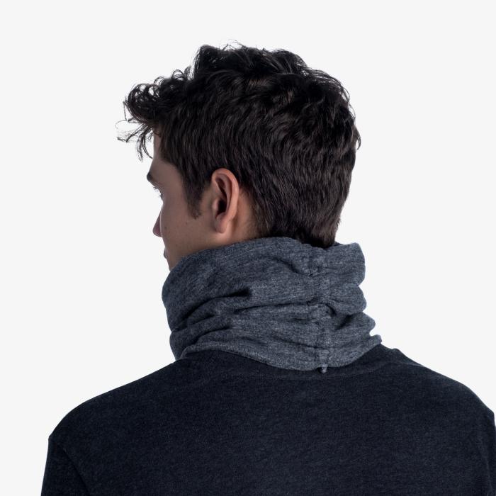 Merino fleece neckwarmer Solid grey [4]