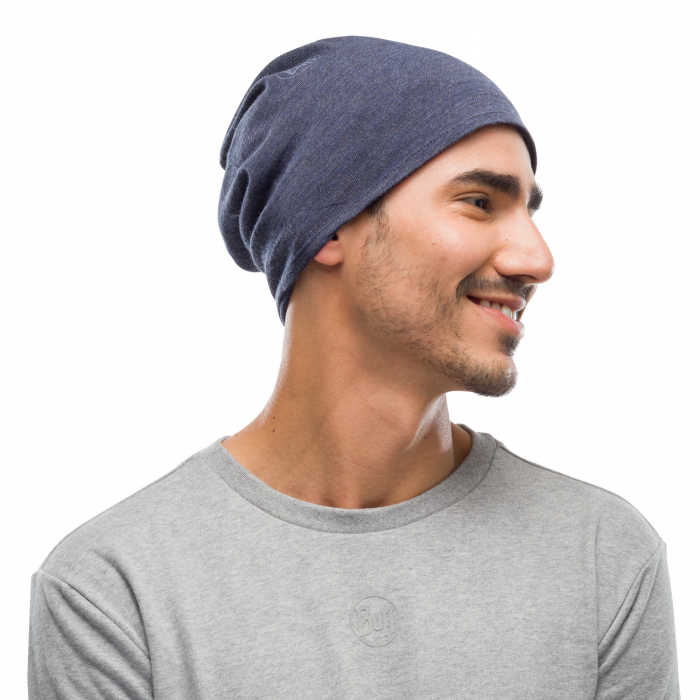 Mid weight merino wool Night blue melange 3