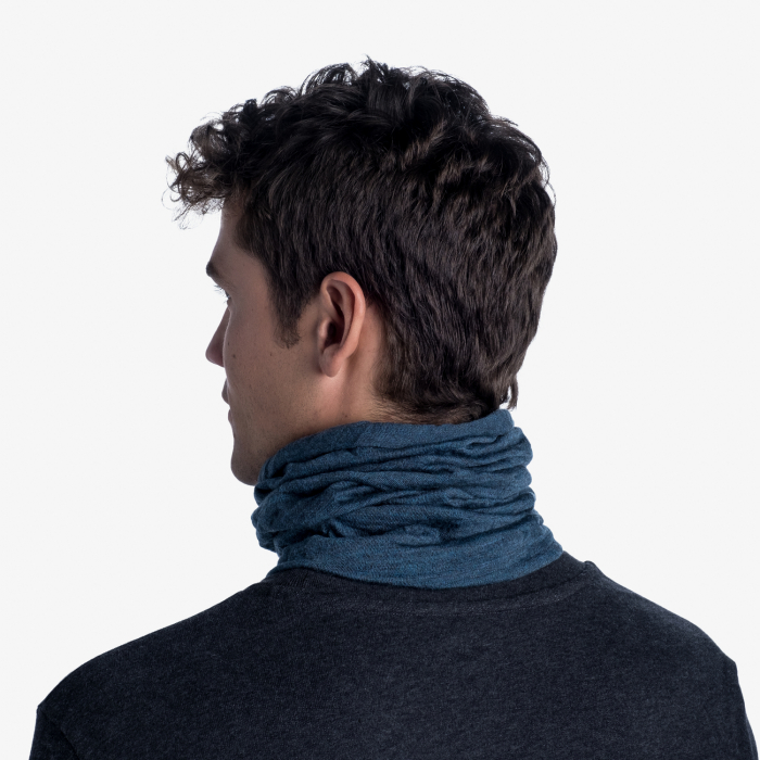 Mid Weight merino wool DUSTY blue melange [3]