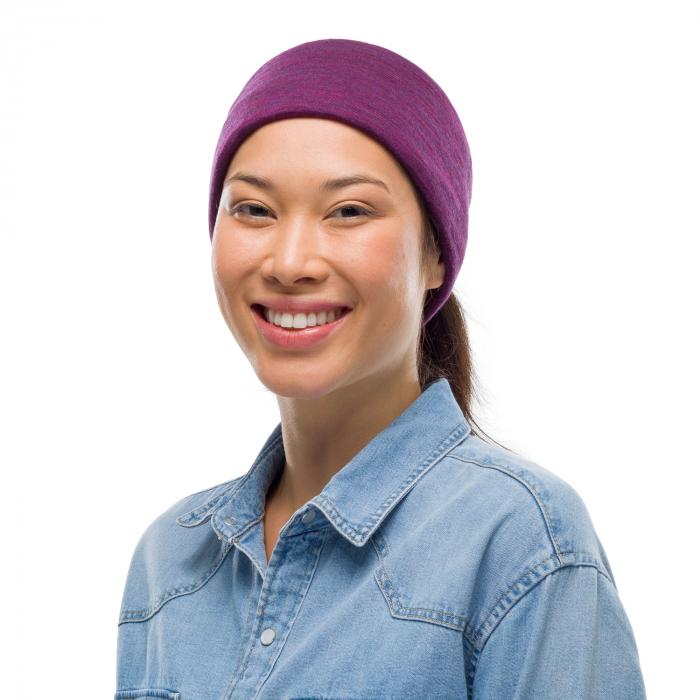 Mid Weight merino wool purplish melange 2