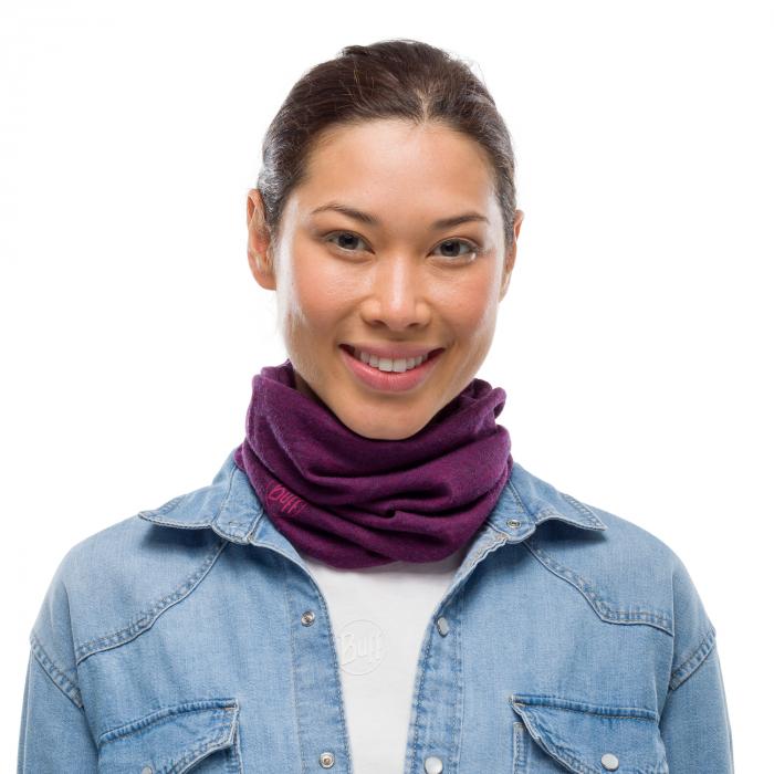 Mid Weight merino wool purplish melange 0