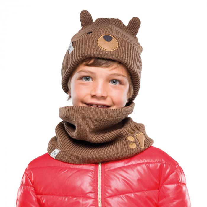 NECKWARMER CHILD KNITTED POLAR FUNN BEAR 1