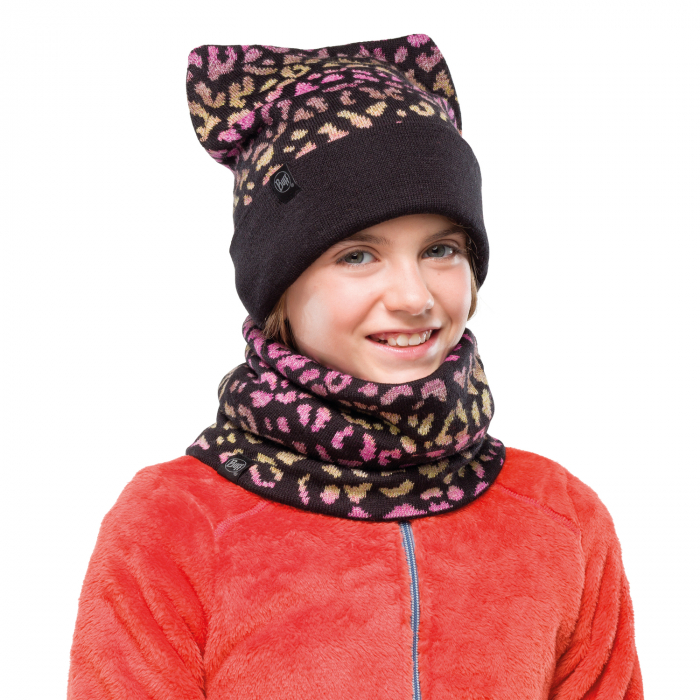 NECKWARMER JR KNITTED POLAR ALISA BLACK 1