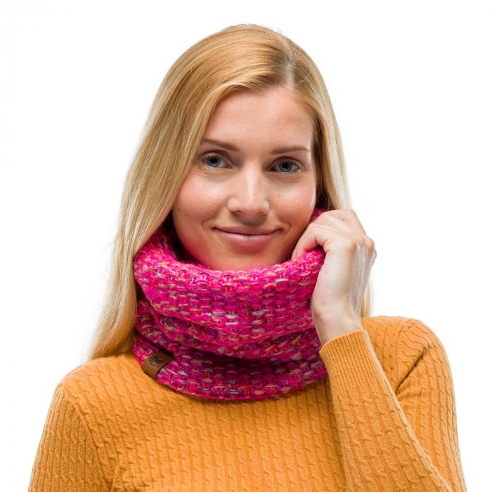 Neckwarmer knitted polar GRETE Pink 1