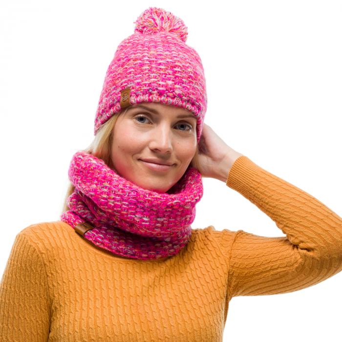 Neckwarmer knitted polar GRETE Pink 2