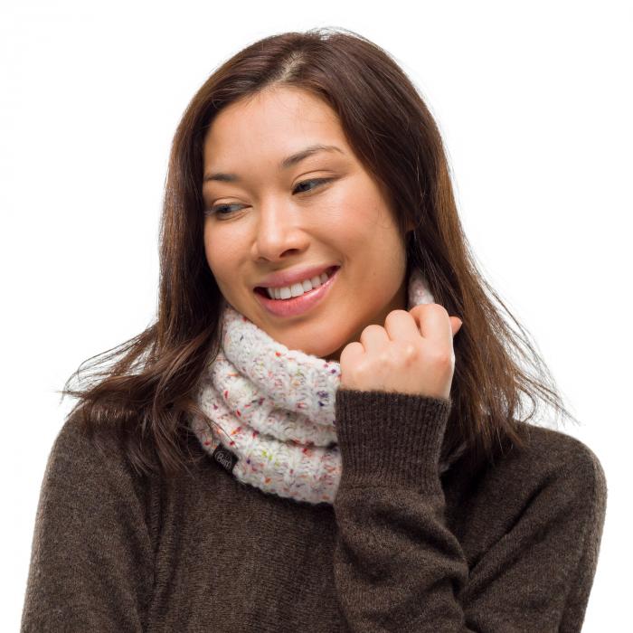 Neckwarmer knitted polar KIM White 1