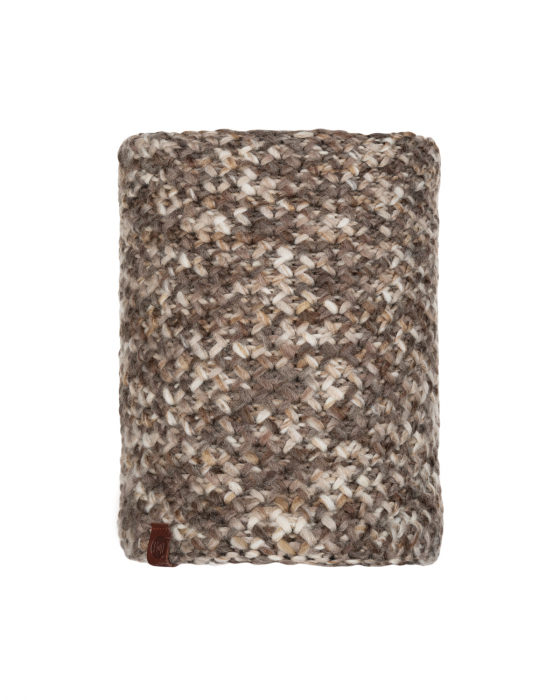 NECKWARMER KNITTED POLAR MARGO BROWN TAUPE 0