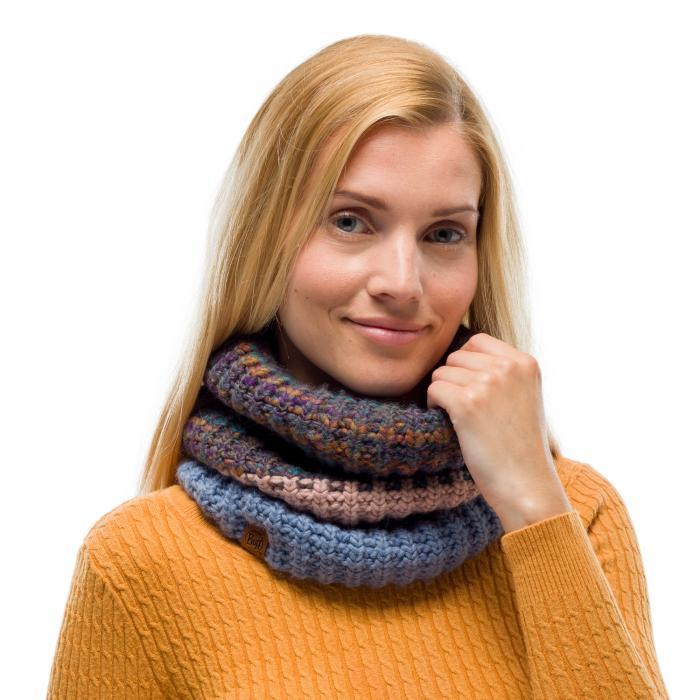 Neckwarmer knitted polar ALINA Blue [1]