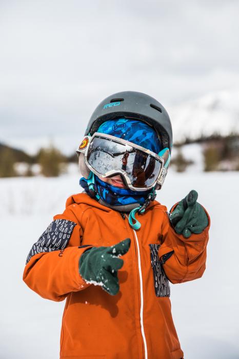 Neckwarmer Polar Reversible pentru copii High Mountain Blue [4]