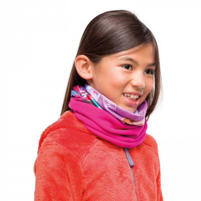 POLAR JUNIOR BUFF® FROZEN ANNA BRIGHT PINK 1