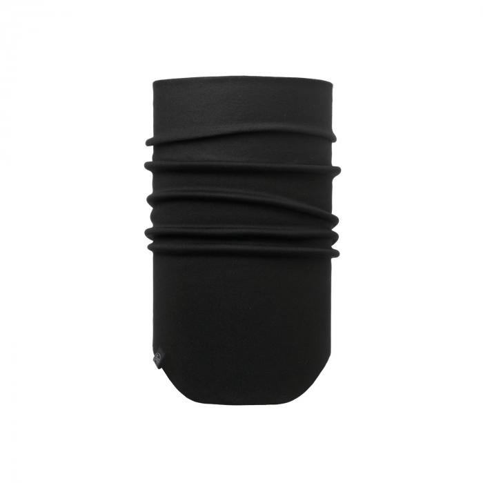 Windproof neckwarmer SOLID BLACK 0