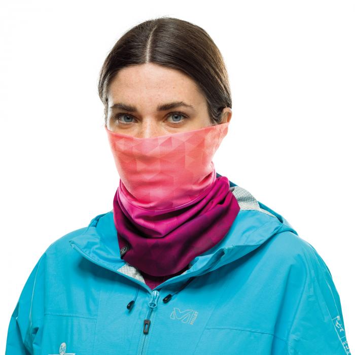 Windproof neckwarmer TESIA PINK FLUOR 0