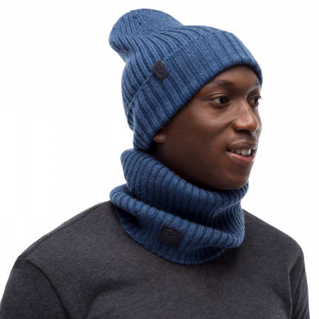 Caciula knitted wool NORVAL Denim [1]