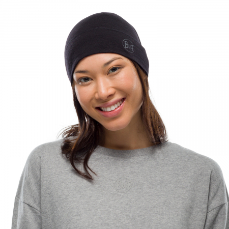 Caciula midweight merino wool Solid black0