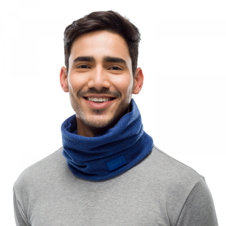 Merino fleece neckwarmer Solid azure [1]