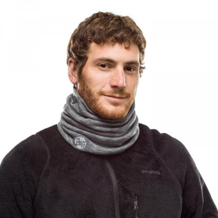 Heavy Weight merino wool FOG grey multi stripes0