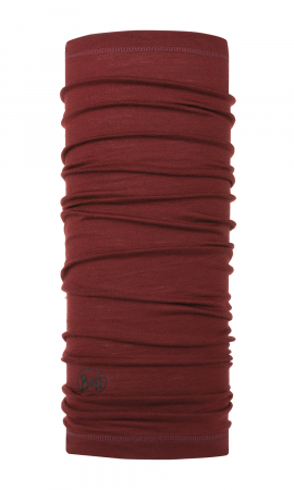 LIGHTWEIGHT MERINO WOOL SOLID WINE0
