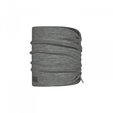 Merino fleece neckwarmer Solid grey [0]