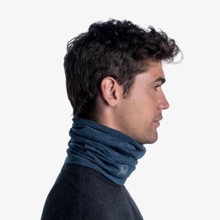Mid Weight merino wool DUSTY blue melange [2]