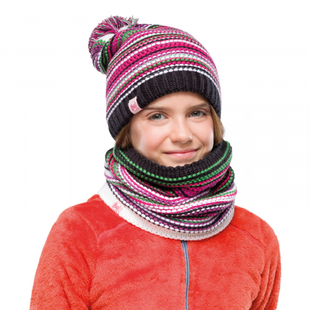 NECKWARMER JR KNITTED POLAR AMITY MULTI1