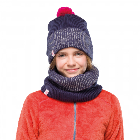 NECKWARMER JR KNITTED POLAR AUDNY NIGHT BLUE1