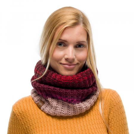 Neckwarmer knitted polar ALINA Maroon1