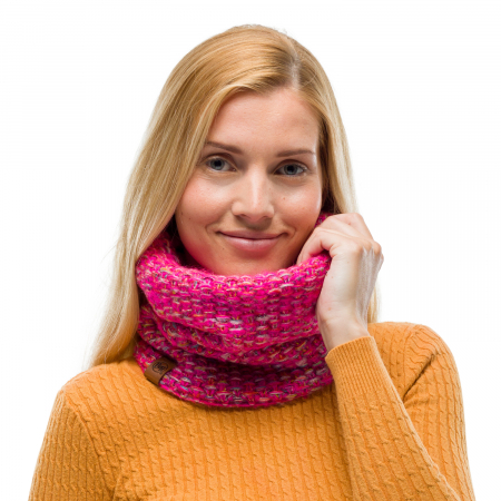 Neckwarmer knitted polar GRETE Pink1