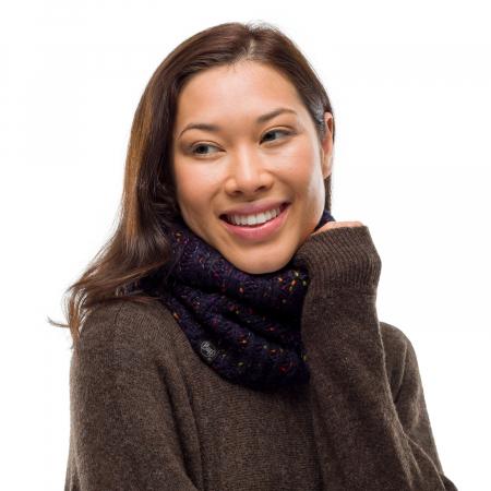 Neckwarmer knitted polar KIM Night blue1