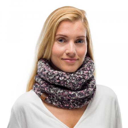 Neckwarmer knitted polar MARGO Castlerock grey1