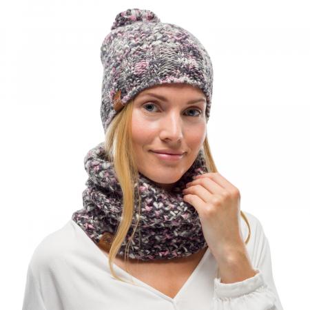 Neckwarmer knitted polar MARGO Castlerock grey2