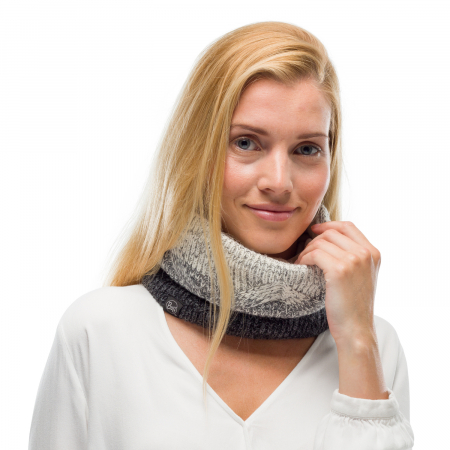 Neckwarmer knitted polar MASHA Grey1