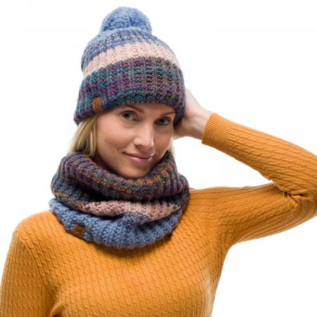 Neckwarmer knitted polar ALINA Blue [2]
