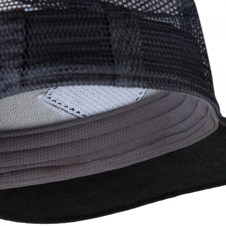 TRUCKER FLAT CAP ZEST GREY2
