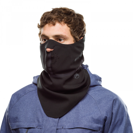 Windproof bandana SOLID BLACK0