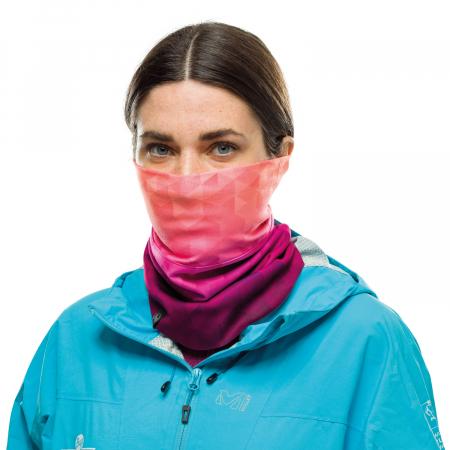 Windproof neckwarmer TESIA PINK FLUOR0