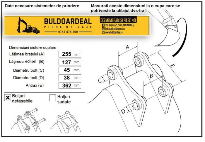 Cupa Taluz CASE 580 - 1500mm 6